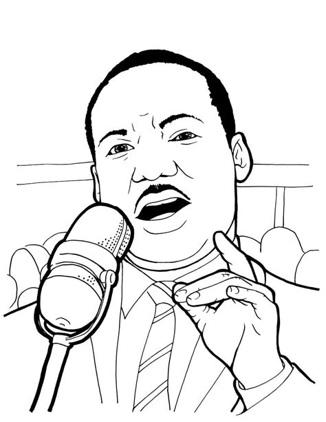 martin luther king coloring pages free printable martin luther king jr day mlk day