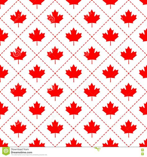 pattern paper canada canadian maple leaf symbol seamless pattern stock vector