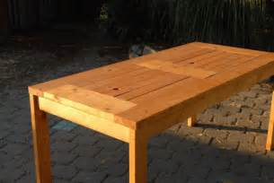 Patio Wood Table Diy Patio Table With Built In Wine Coolers Domesticated Engineer