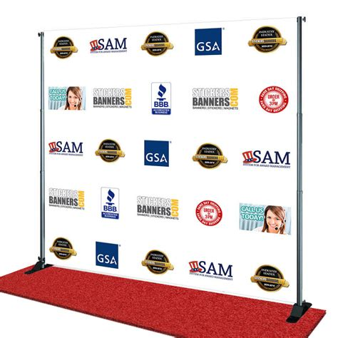 Step And Repeat Step And Repeat Banner Same Day Shipping 8x8 Step And Repeat Template