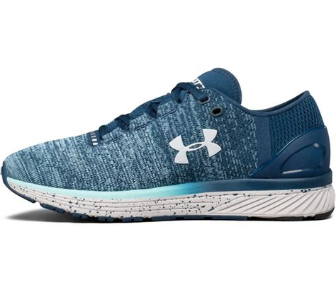 Armour Blue Grey armour charged bandit 3 s running shoes