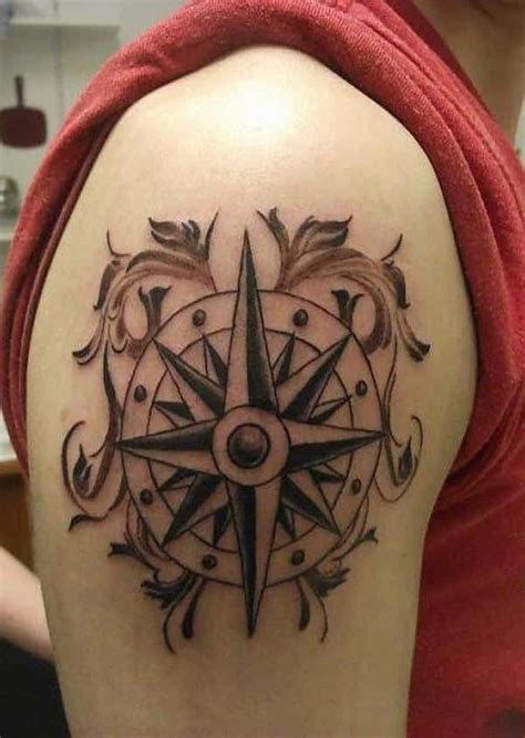 compass tattoo upper arm compass tattoos for men ideas and designs for guys