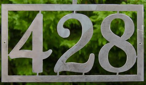 Handmade House Numbers - modern house numbers address sign custom metal work ships