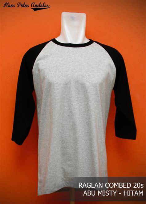 Murah Meriahbaju Kaos Polos Distro Hitam 1 harga spesifikasi kaos distro polos reglan 3 4 cotton