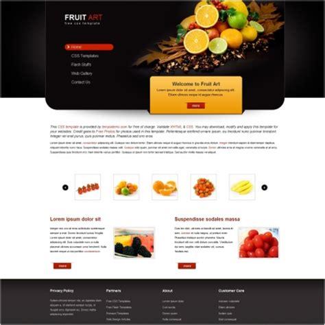 fruit art  website templates  css html js format