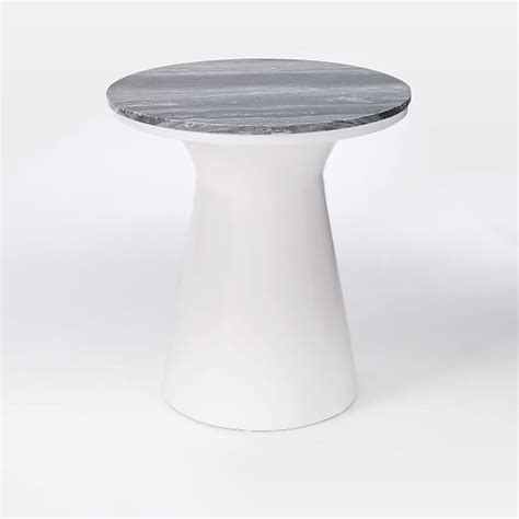 marble pedestal side table marble topped pedestal side table gray marble white