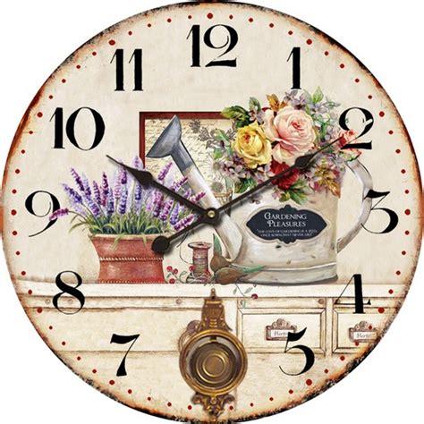 orologi da giardino antica soffitta orologio da parete pendolo shabby chic