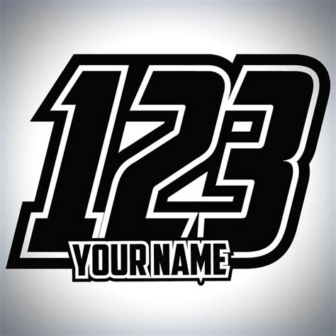 Auto Decal Numbers by 21 Best Mx Race Numbers Images On Pinterest Decal