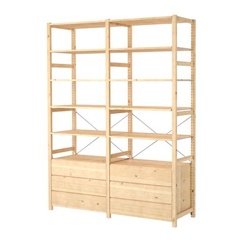 ivar 2 sections shelves chest ikea