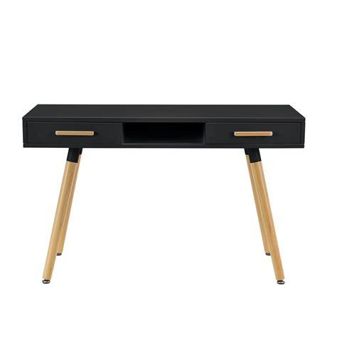bureau ebay en casa r 233 tro bureau noir 120cm table d ordinateur