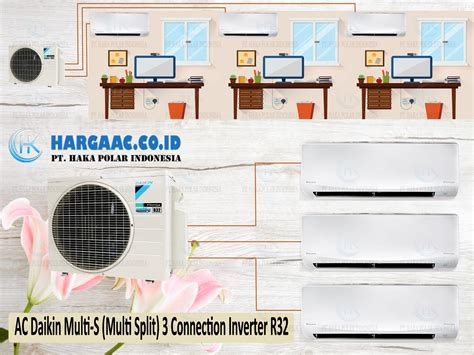 Ac Daikin 3 4 Pk R32 harga jual ac daikin multi s 3 connection inverter r32 di