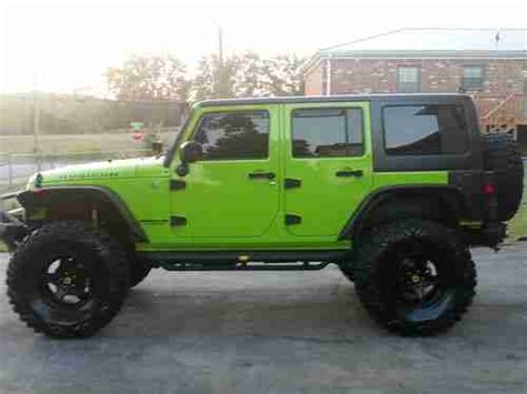Gecko Green Jeep Wrangler Unlimited For Sale Sell Used 2012 Lifted Gecko Green Jeep Wrangler Unlimited