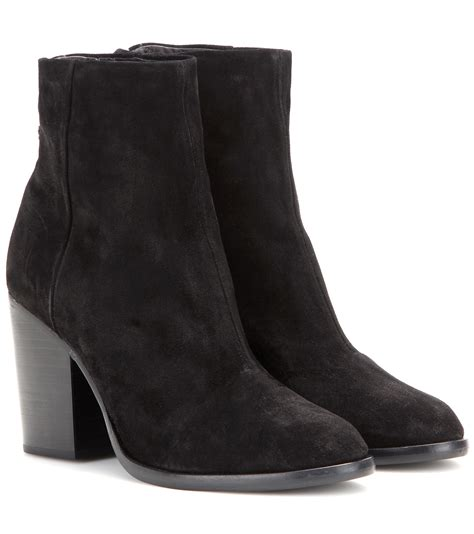 suede ankle boots lyst rag bone ashby suede ankle boots in black