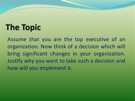 Organisational Behaviour Ppt For Mba 1st Sem by Management And Organization Behavior Ppt On Decision