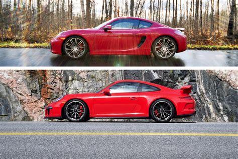 Porsche Cayman Vs 911 by Northern Exposure Little Red Porsches Done Two Ways 911