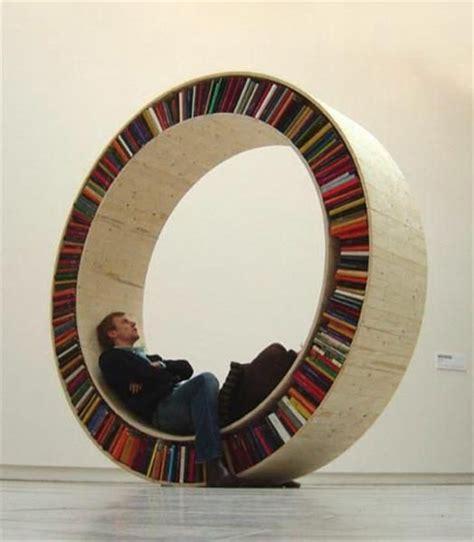 circular bookshelves design