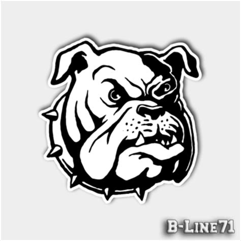 Motorradhelm Englisch by Old English Bulldog Aufkleber Quot Angry Head Quot B Line71