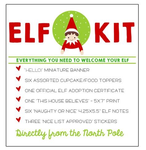printable elf on the shelf certificate free elf on the shelf printable kit pizzazzerie