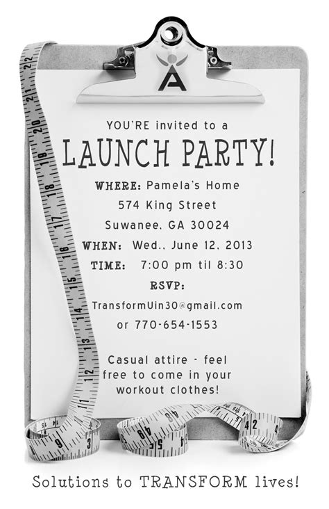 launch invitation templates transforming your