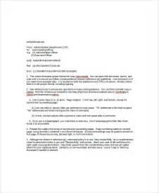 standard memo format template sle standard memo template 6 free documents