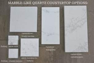 kitchen countertop options quartz that look like marble
