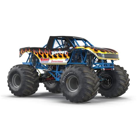 bigfoot monster truck model 3ds monster truck bigfoot