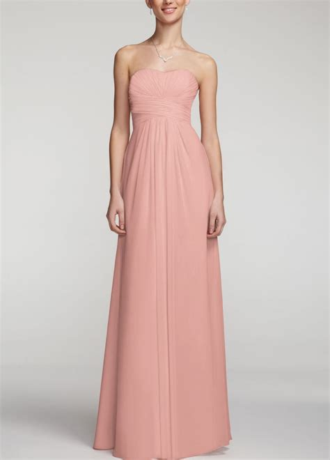 davids bridal colors david s bridal strapless chiffon dress wpleated
