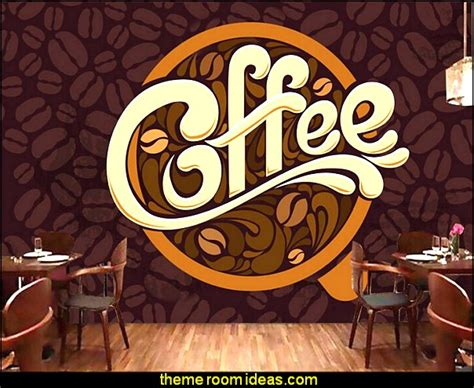 coffee shop wallpaper murals decorating theme bedrooms maries manor coffee