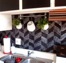 chalkboard kitchen backsplash top 20 diy kitchen backsplash ideas