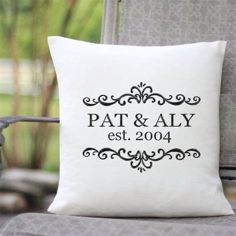 embroidery wedding personalized wedding gift pillow with embroidered