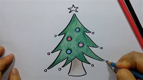 how to draw christmas tree easy and fun youtube