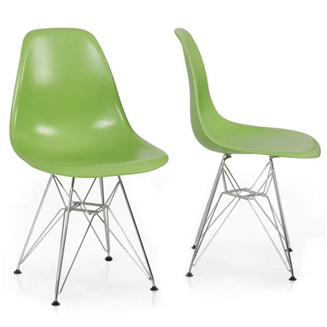 eames wire side 2x eames style dsw modern eiffel side chair molded abs