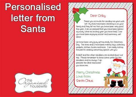printable letters from santa australia 51 best images about christmas printables on pinterest