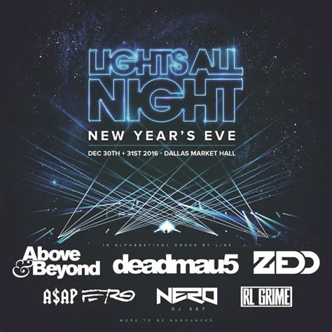 lights all night lineup 2017 perfect party names 2017 autos post