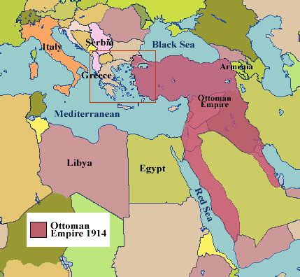 The Ottoman Empire 1914 Ottoman Empire Present Day