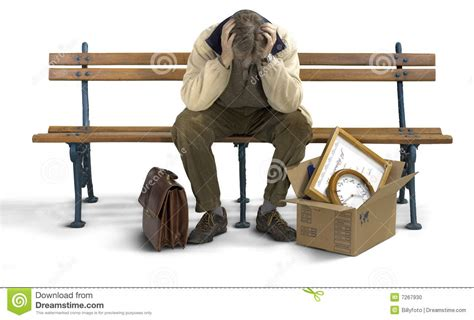 sad bench sad man on a bench stock photo image of fired worker