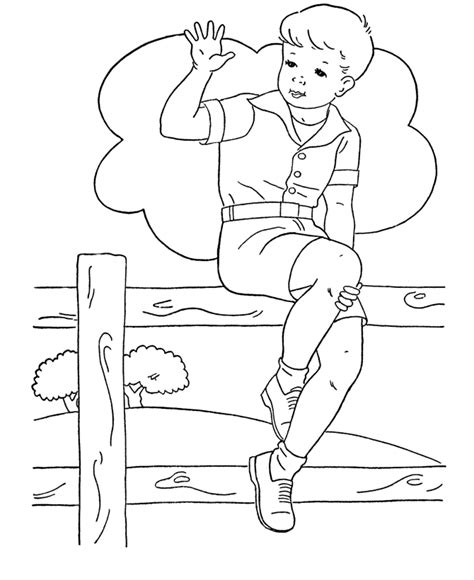 Free Coloring Pages Of Boys Color Pages And Boy Coloring Pages Free