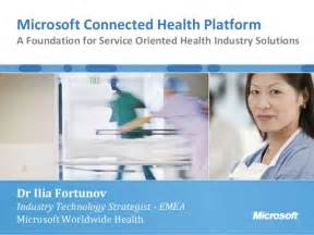 Service Connected Healthcare Microsoft Connected Health Framework