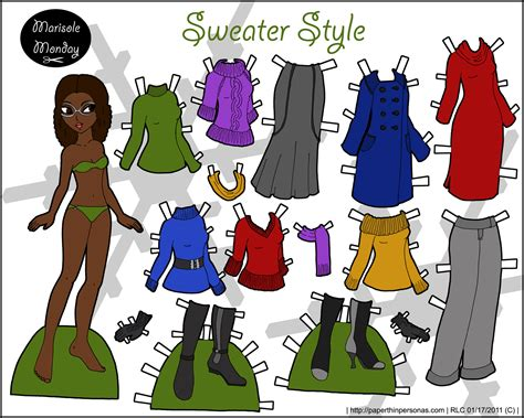 Dolls With Paper - color printable paper doll marisole