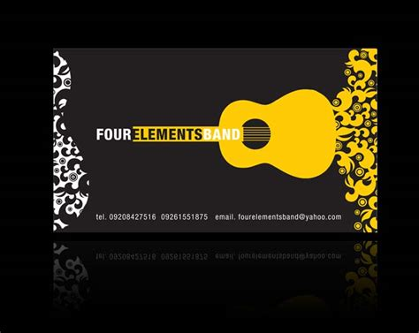 rock band business card templates how to 5 ways to promote your band and gain fans