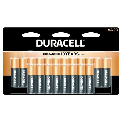 Patio Area by Duracell Coppertop Aa Batteries 20 Count Target
