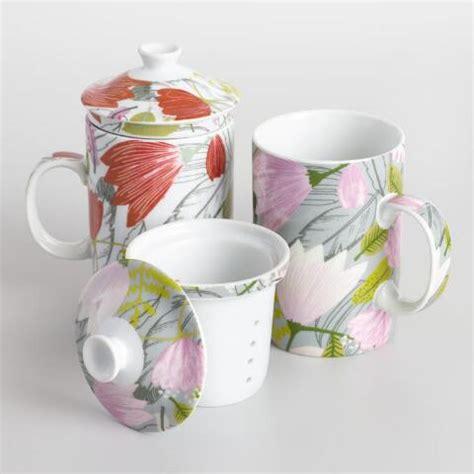 Gigi Porcelain 1 gigi floral porcelain infuser mugs set of 2 world market