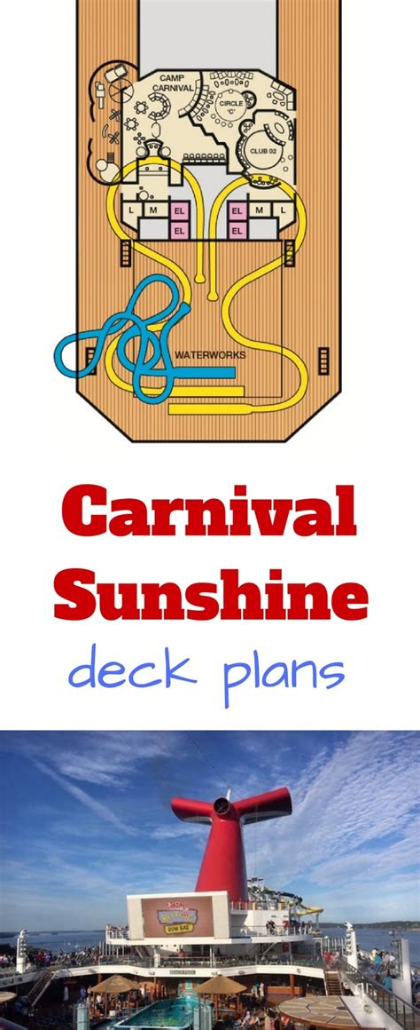Carnival Sunshine Floor Plan by Carnival Sunshine Deck Plans Cruise Radio