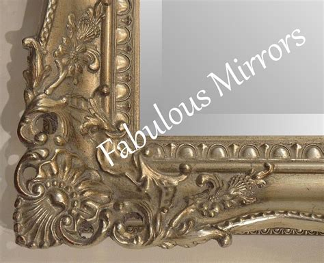 antique silver shabby chic ornate decorative carved wall