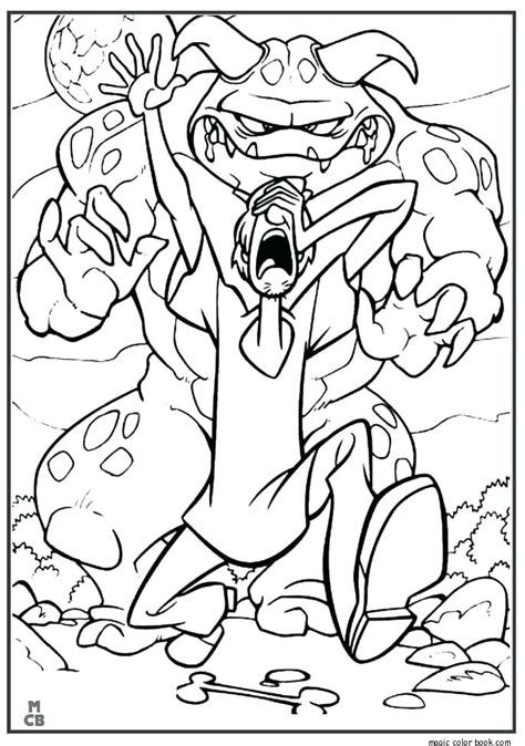 scooby doo halloween coloring pages  getcoloringscom