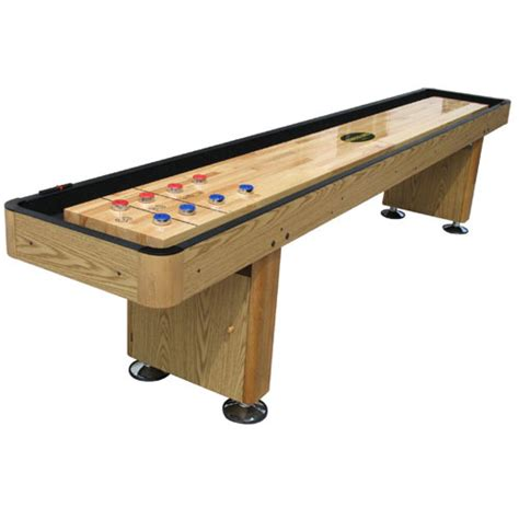 standard 9 shuffleboard table oak