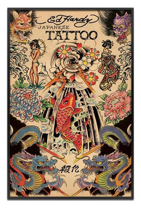 tattoo art prints the framer s workshop prints tiles ed hardy posters