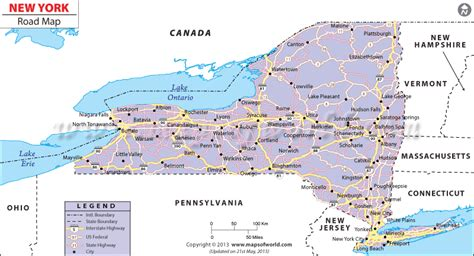 map usa new york state new york road map maps of the world