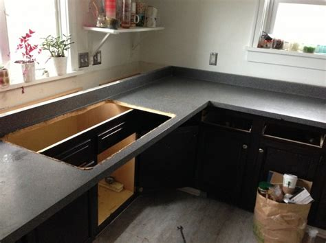 how to remove laminate countertops and plumbing issues