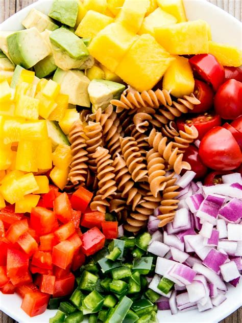 pasta salad ingredients cilantro lime pasta salad fitness food